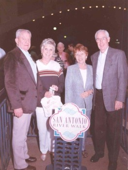 Bill & Carol Stead, Walt & Cecile Poff at Annual Conference in San Antonio, 1999