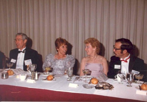 Walt & Cecile Poff, Incoming President and Bill & Peggy Neill, Boston 1985