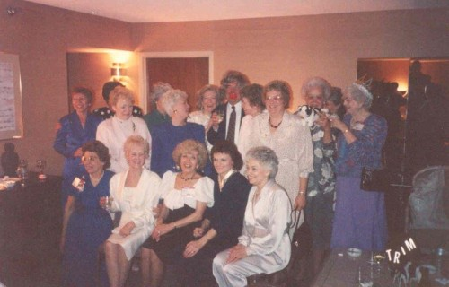 Photo of Past President's wives with Harry Webster