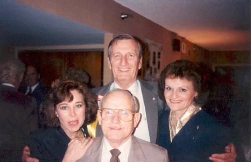 Mrs. Thad Lee, Leonard Rowe, Gordon Rankin, Betty Rankin