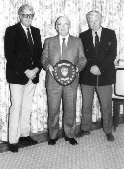 Redvers Parkins receiving an award