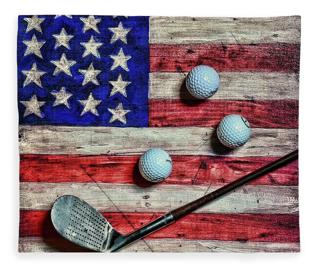 vintage-8-iron-and-golf-balls-on-american-flag-square-format-paul-ward